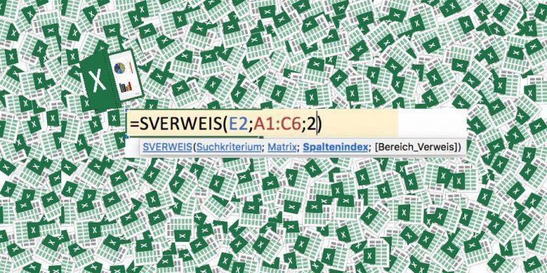 Der SVERWEIS in Excel an einem Beispiel erklärt