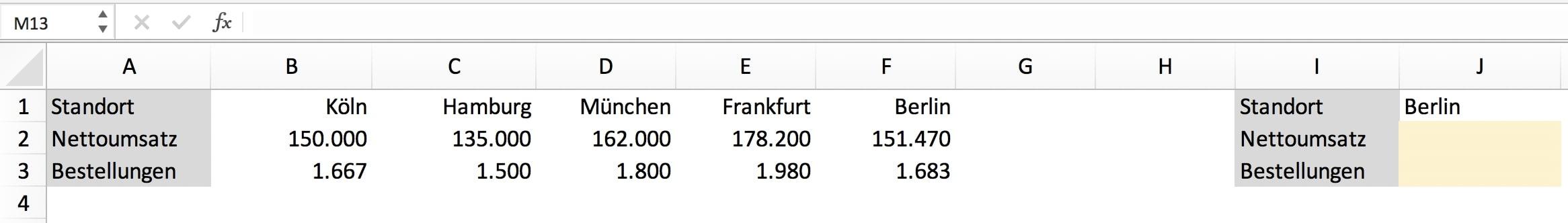WVERWEIS Excel Aufgabe leicht erklärt